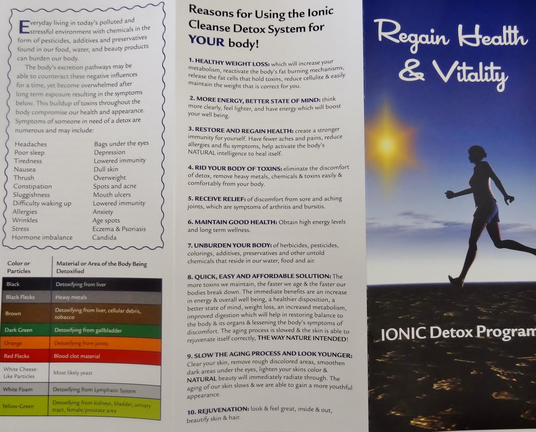 FOOT SPA DETOX MACHINE - With Foot Basin - FREE Regain Health and Vitality Brochure and 16 page Booklet. - From Better Health Company by BHC (Image #4)