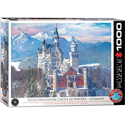 Neuschwanstein Castle in Winter 1000-Piece Puzzle: Toys & Games