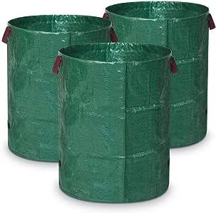 Navaris Set de 3X Sacos Reutilizables para jardín - Resistente Bolsa para residuos con Asas - Saco para desechos de jardín con Capacidad de 272L: Amazon.es: Jardín