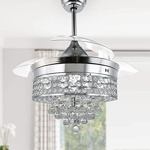 Modern Crystal Ceiling Fan