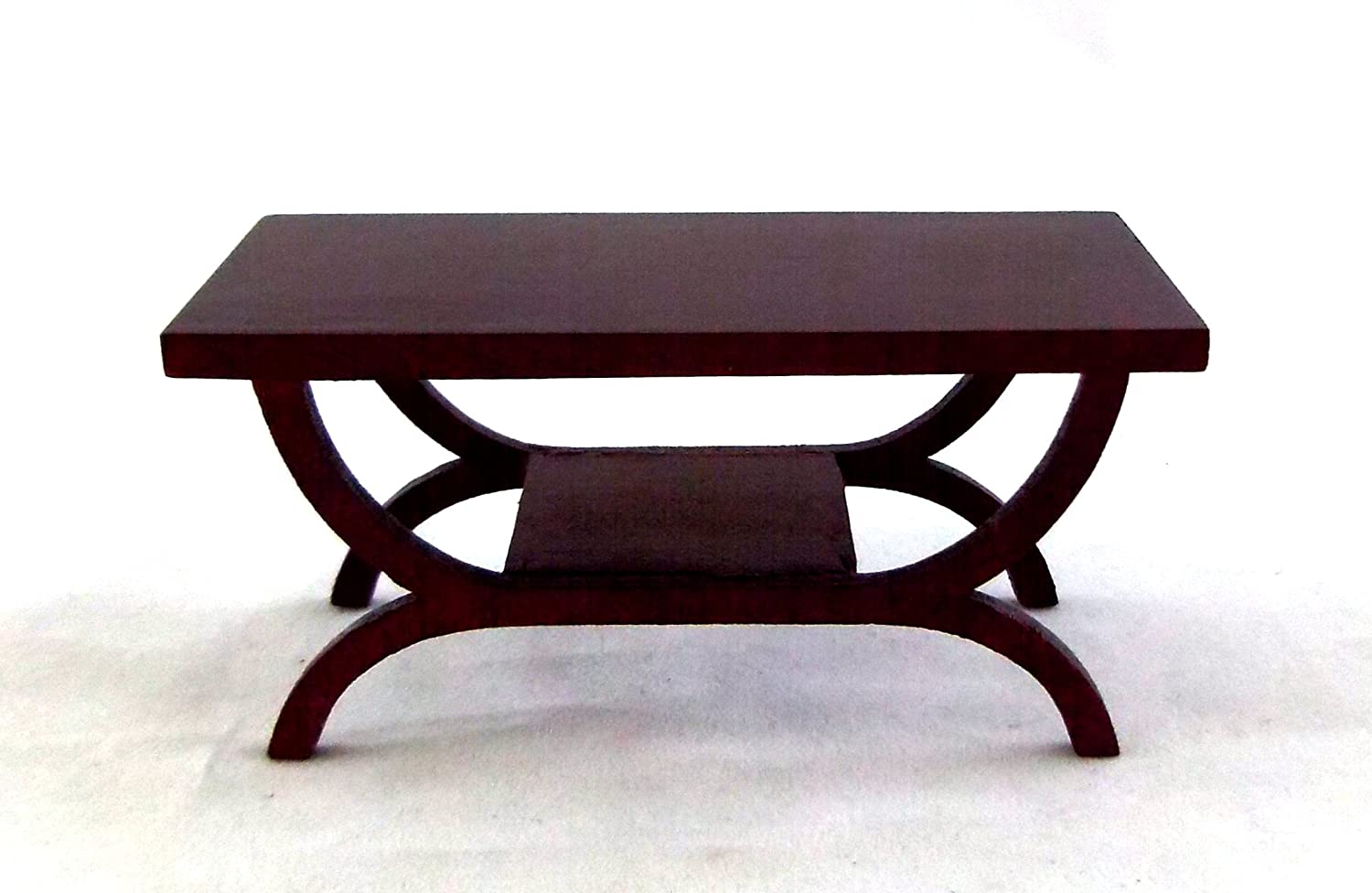 Dollhouse Miniature Furniture Mahogany Wooden End Table //Coffee Table Hot
