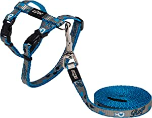 Rogz Reflectocat Cat Harness Lead, Blue, Small