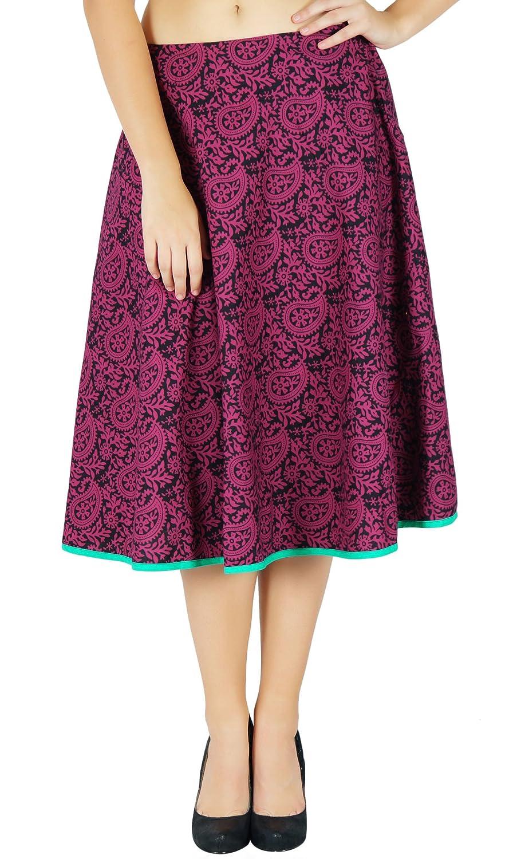 Cotton Hippie Summer Beach Wear Fashion Women Printed Short Skirt