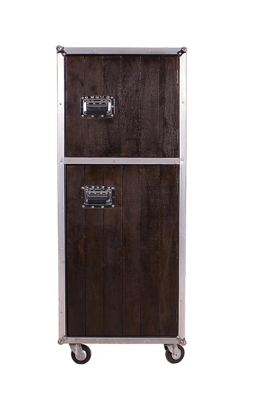 SIT-Möbel 6523-30 (DARK ROADIES) Rollschrank, Holz, dunkelbraun mit ...