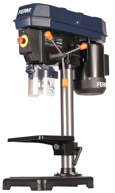 FERM Perceuse à colonne - 350W - Profondeur maxi: 52mm - 5 vitesses TDM1026