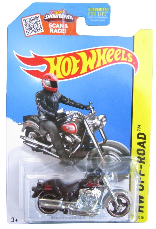Hw hot wheels 2015 hw city 48 250 canyon carver police motorcycle - Amazon Com Hot Wheels 2015 Hw Off Road Harley Davidson Fat Boy Motorcycle 82 250 Black Toys Games