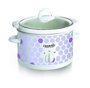 Crock Pot 2-1/2-Quart Slow Cooker, Polka Dot Pattern (SCR250-POLKA)