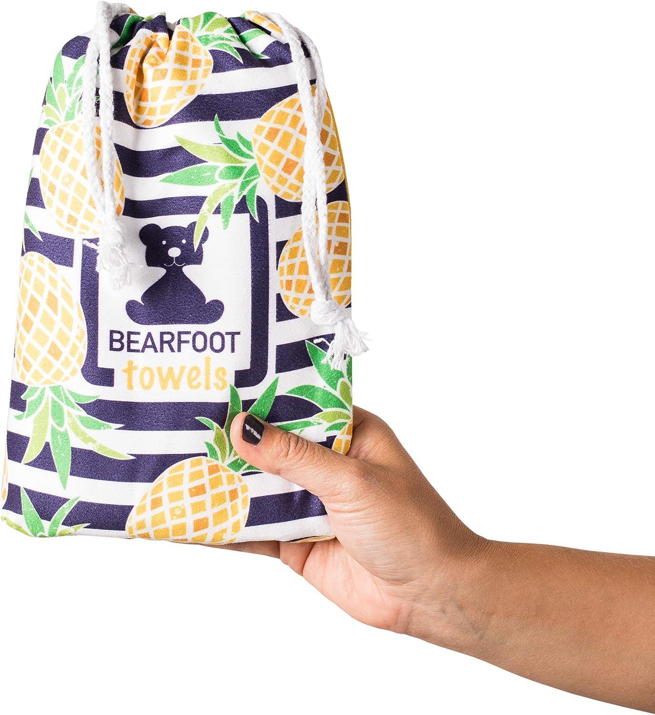 toalla de ba/ño grande toalla de playa XXL playa BEARFOOT Toalla de microfibra con bolsillo toalla de viaje sauna toalla de microfibra para sauna de secado r/ápido