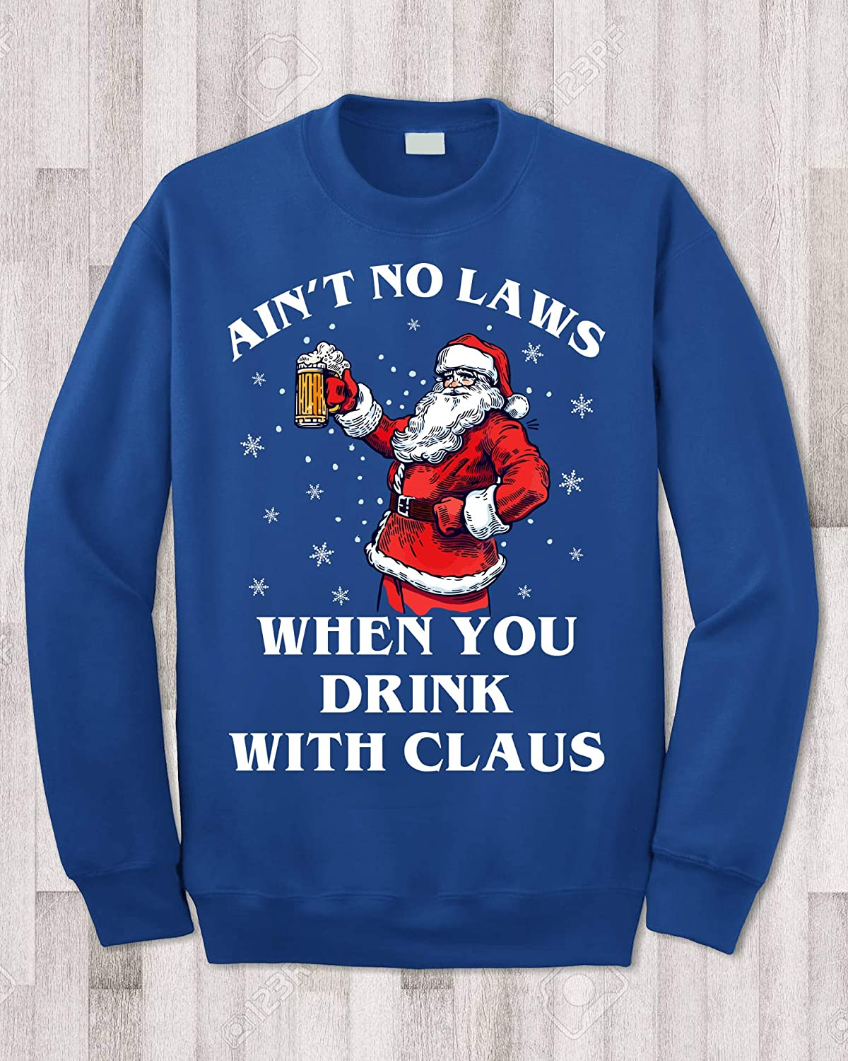 Funny Xmas Aint No Claw Claus When Youre Santa Claus Drinking Beer Christmas
