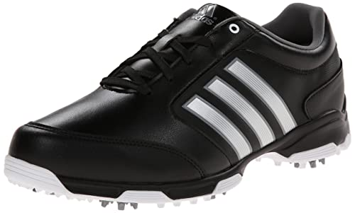 the latest 0ccbc 05822 Adidas Mens Pure 360 Lite Golf Shoe, Core BlackMetallic SilverRunning  White