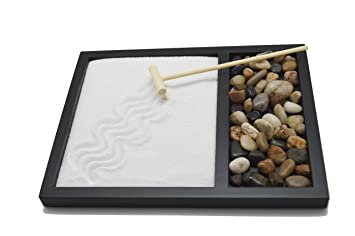 Zen Sand Rocks Rake Garden Kit Tabletop Gifts U0026 Decor