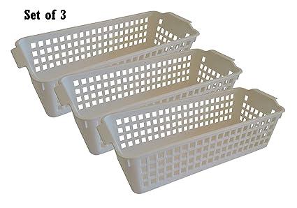 Casa decorativa de plástico cestas de almacenamiento, organizador de oficina bandejas, esencial contenedores,