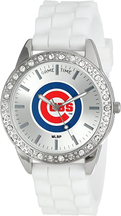 Amazoncom Game Time Womens Frost Mlb Series Quartz Metal And