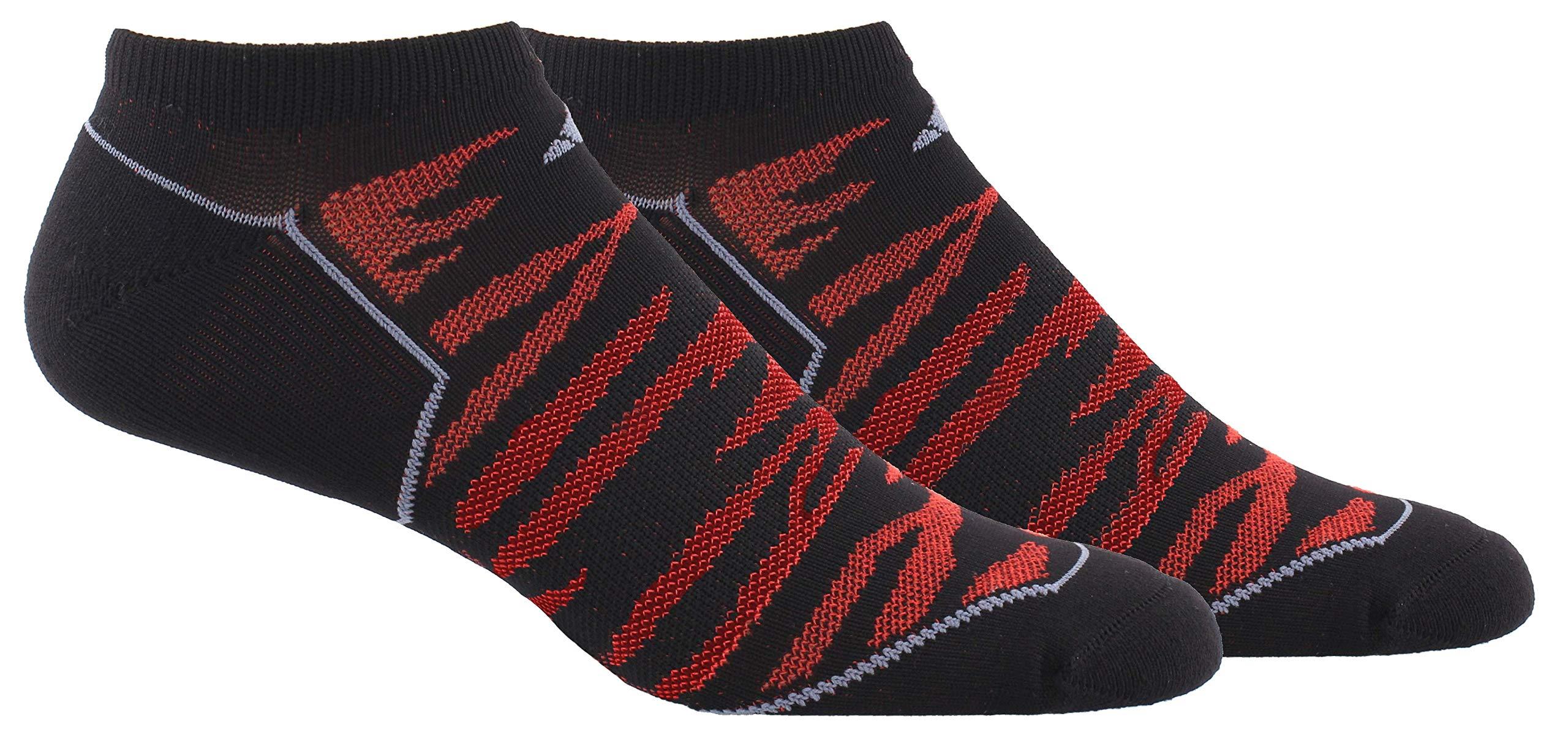 adidas Men's Superlite Prime Mesh No Show Sock (2-Pair), Black/Scarlet/Onix, Large, (Shoe Size 6-12) by adidas