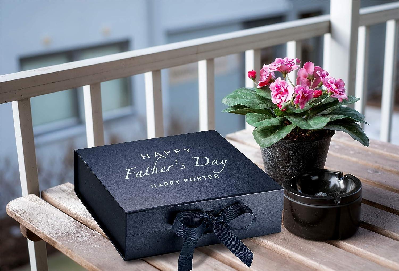 Personalised Medium//Large Gift Box Classic Fathers Day Present Keepsake Boxes