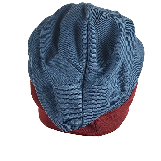 734022412f7 Stylish Men Women Slouch Beanie Basic Skull Cap Designer B010 - Blue -   Amazon.co.uk  Clothing