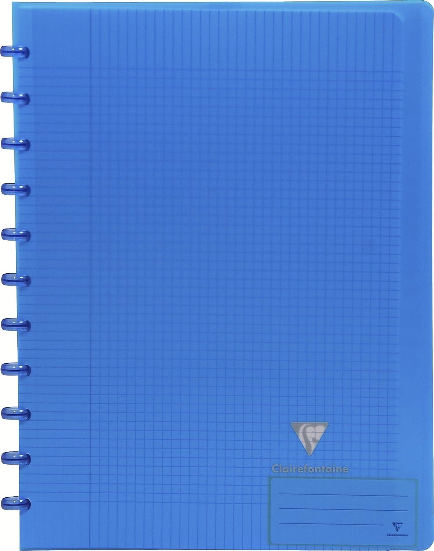 Clairefontaine 373568C Koverbook Clairing - Quaderno con dorso a spirale, 5 divisori, 72 fogli a quadretti, formato A4, colori assortiti C Rhodia Techniques artistiques