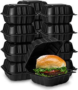 Eco-Friendly Meal Prep Containers [50-Pack 6x6x3