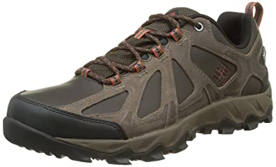 Columbia Homme Chaussures Multisport, Imperméable, Peakfreak XCRSN II Low Leather, Brun (Cordovan, Sanguine), Pointure : 41