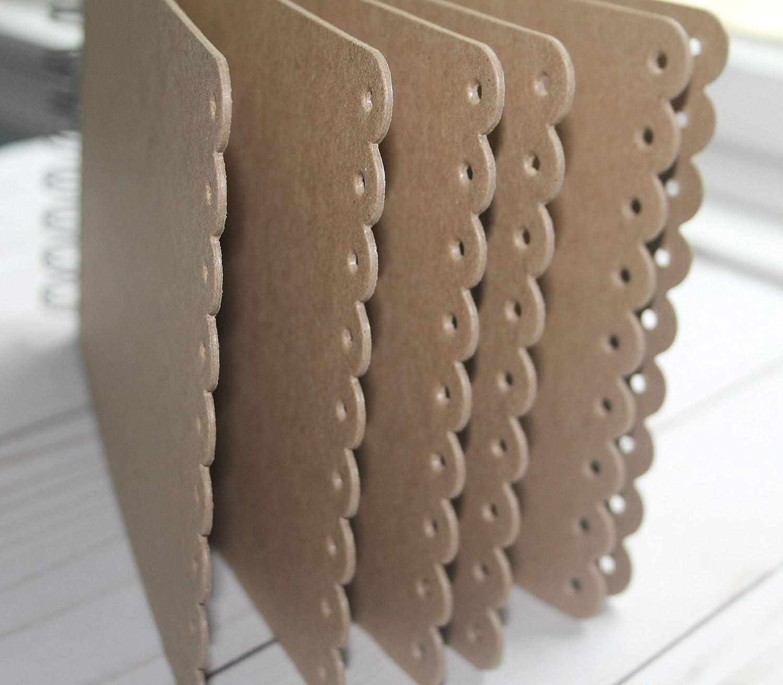 Long eyelet scallop edge Chipboard Album