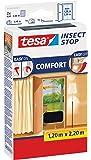 tesa 55389-21-00 Fliegengitter anthrazit 220 x 120 / Comfort-Tür 2 x 65cm