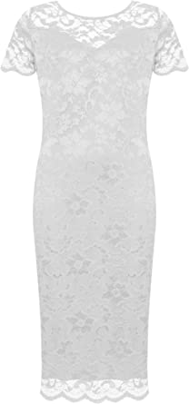 Robe femme taille 52 54 56 58 60 grande taille robes soiree dentelle fleurs 1