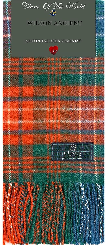 Amazon.com: Wilson Ancient Tartan Clan Scarf 100% Soft Lambswool ...