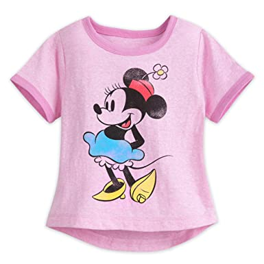 eb70dfb563f4 Disney Minnie Mouse Classic Ringer T-Shirt for Girls Size XL (14) Multi
