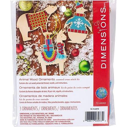 Amazon.com: Dimensions 72-08983 Counted Cross Stitch, Animal ...