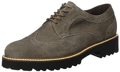 Gabor Shoes Gabor Fashion, Derby Femme, Vert (11 Bottle Cognac), 35.5 EU
