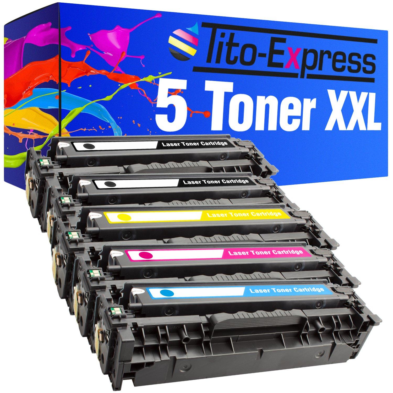 PlatinumSerie® 4x cartucho de compatible tóner compatible de con HP CE410X CE411A CE412A CE413A LaserJet Pro 400 Color M451DW 400 Color M451NW 400 M475DN 400 M475DW 42f7c2