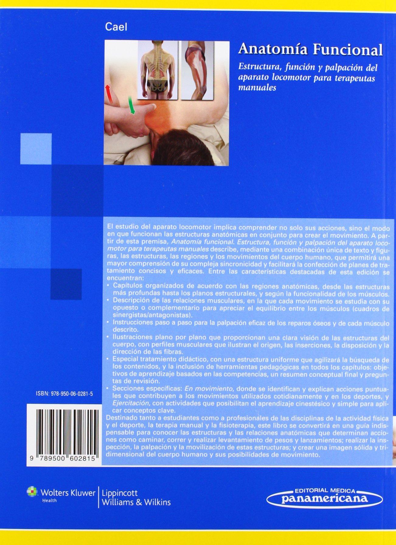 Anatomía Funcional: Estructura, función y palpación para terapeutas ...