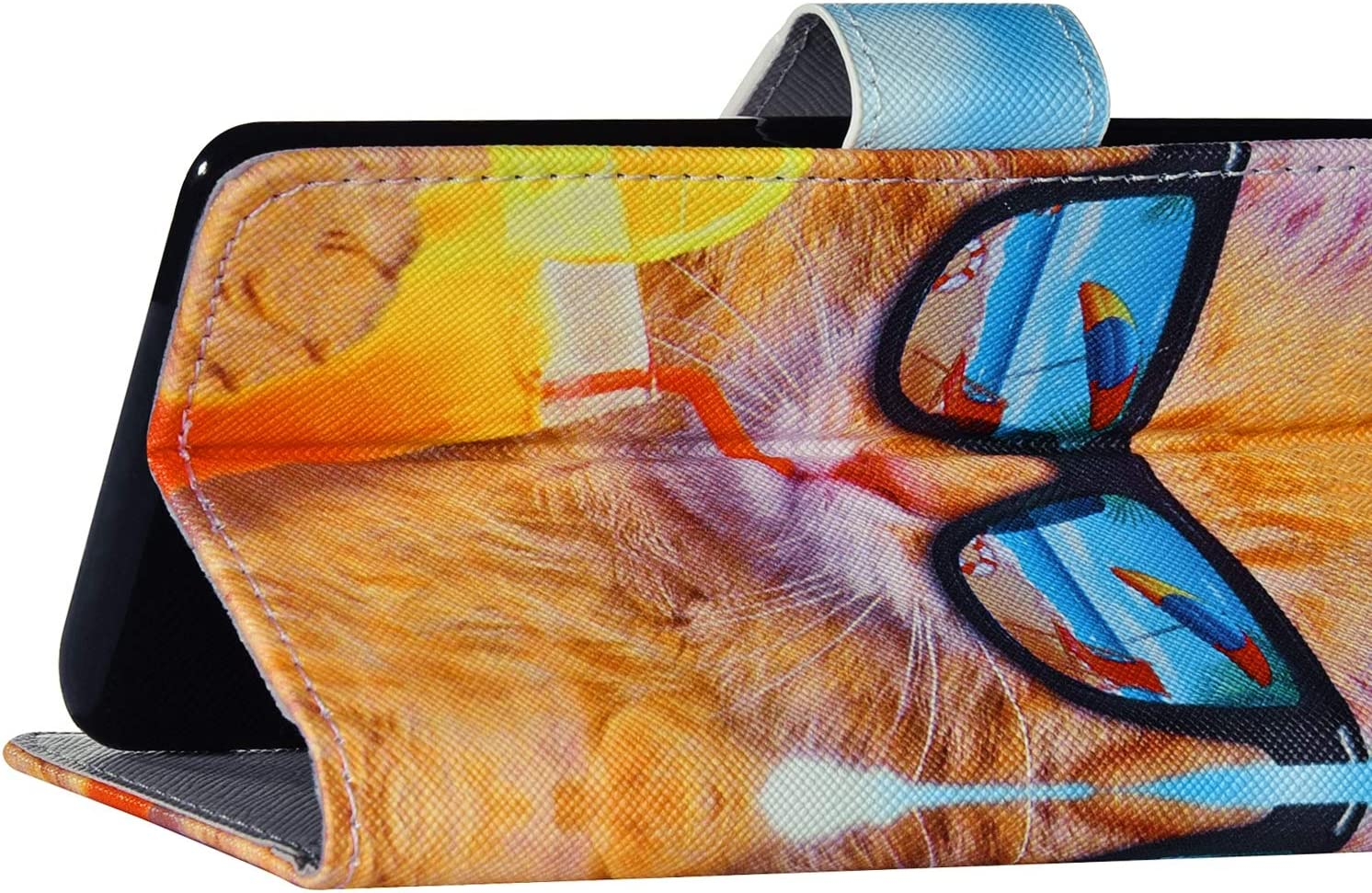 Surakey Handyh/ülle f/ür iPhone 11 H/ülle,iPhone 11 Schutzh/ülle Retro Muster PU Leder Tasche Flip Case Brieftasche Lederh/ülle Handytasche mit Kartenf/ächer St/änder,Schwarze Autobahn
