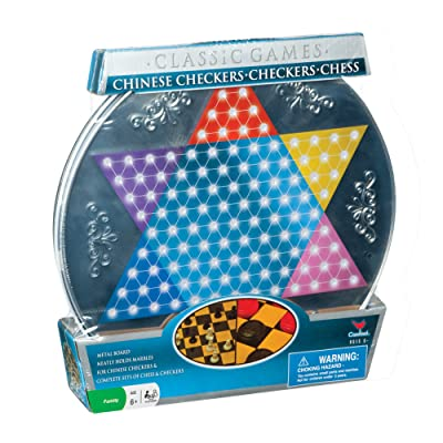 Cardinal Metal Board Chinese Checkers, Checkers, and Chess: Toys & Games