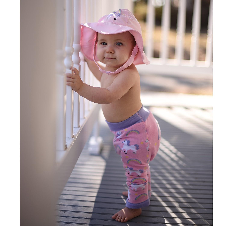 Huggalugs Baby /& Toddler Girls Unicorn or Mermaid Embroidered Sunhat UPF 50+