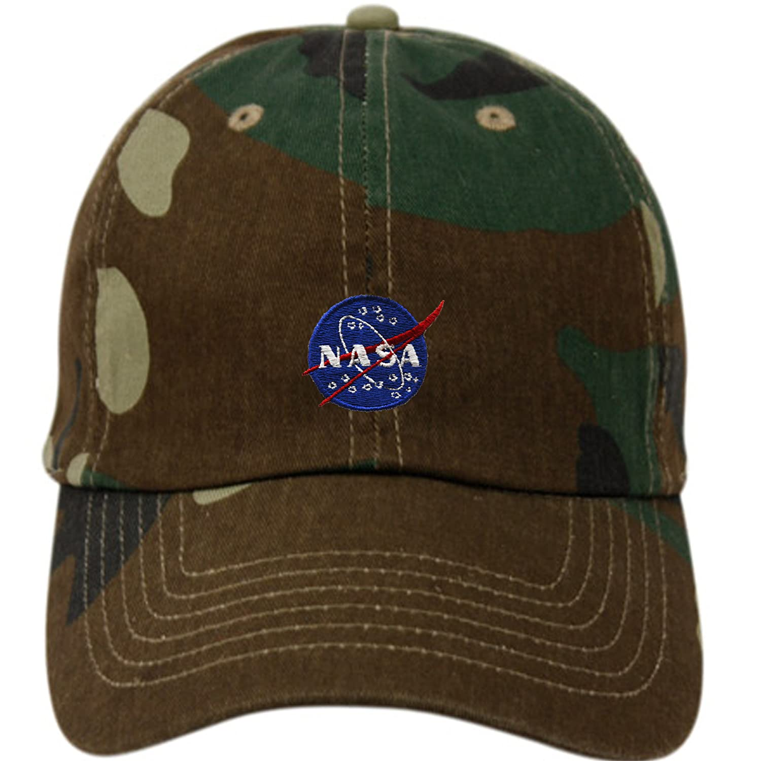 NASA Insignia Embroidered Cotton Cap (A CAMO GREEN) at Amazon Men s  Clothing store  dd886b197