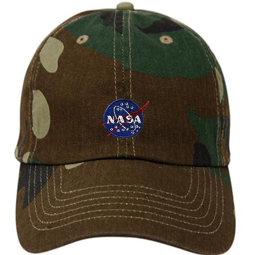 9fc29ff39fc NASA Insignia Embroidered Cotton Cap (A CAMO GREEN) at Amazon Men s ...