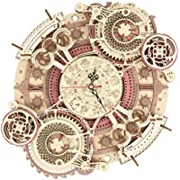 RoWood 3D Wooden Puzzles for Adults & Teens, Mechanical Gear Wall Clock Model Kit - Zodiac Wall Clock