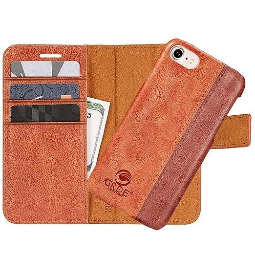 4 opinioni per Custodia iPhone 7, 2 in 1 Flip Magnetica Custodia in pelle Protettiva Case