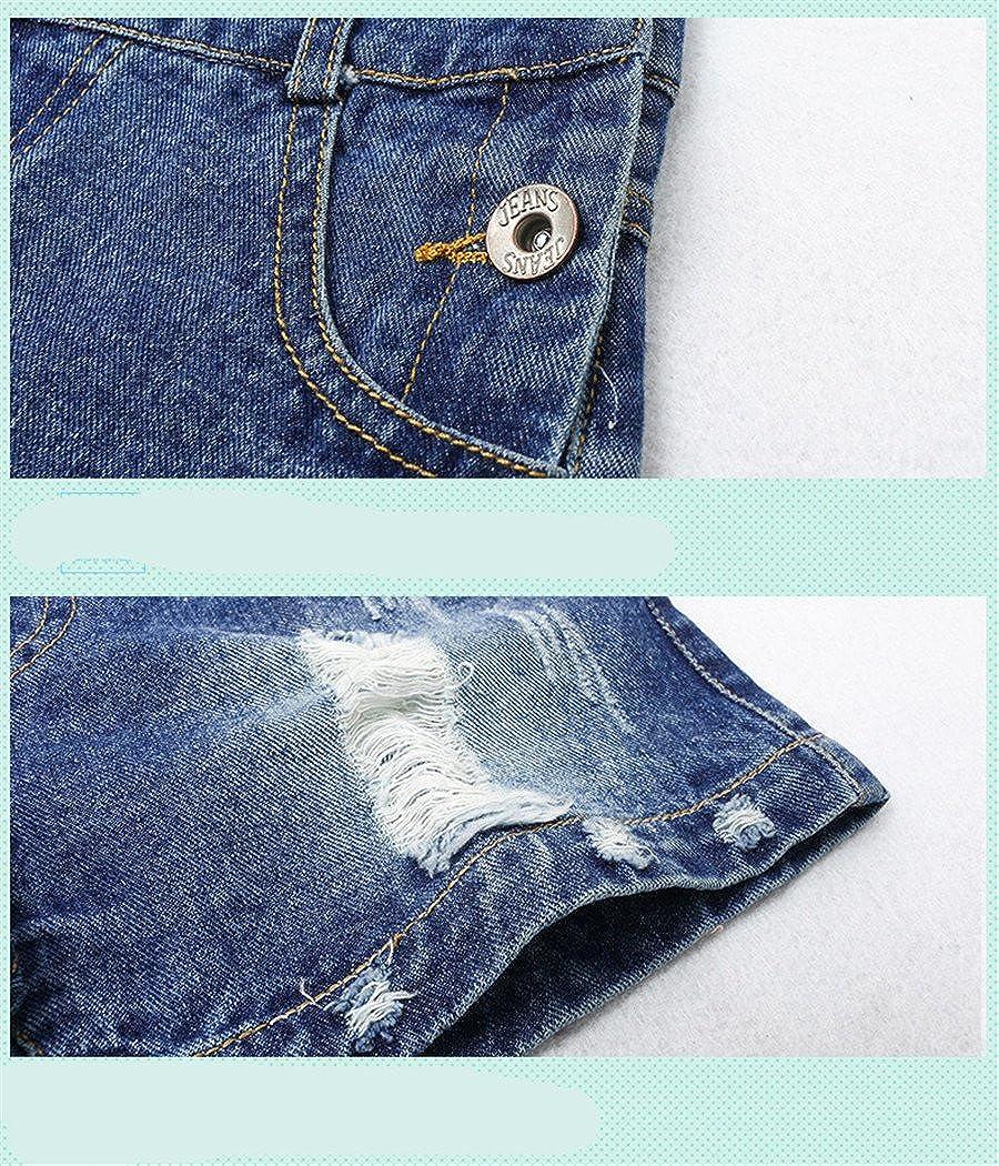 Luodemiss Big Girls Denim Jumpsuit Boyfriend Jeans Denim Romper Shortalls 10 Blue