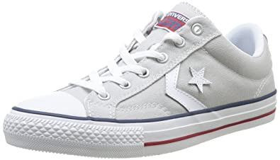 8783a08a6783a1 Converse Unisex-Adult Star Player Adulte Core Canvas OX Trainers 289162 121  Light Grey