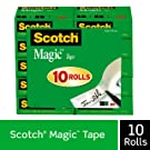 Scotch Magic Tape, Numerous Applications, Invisible, Engineered for Repairing, 3/4 x 1000 Inches, Boxed, 10 Rolls (810P10K)