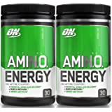 Optimum Nutrition Essential Amino Energy, Pack of Two 30 Servings (Lemon Lime 2 x 30 servings)