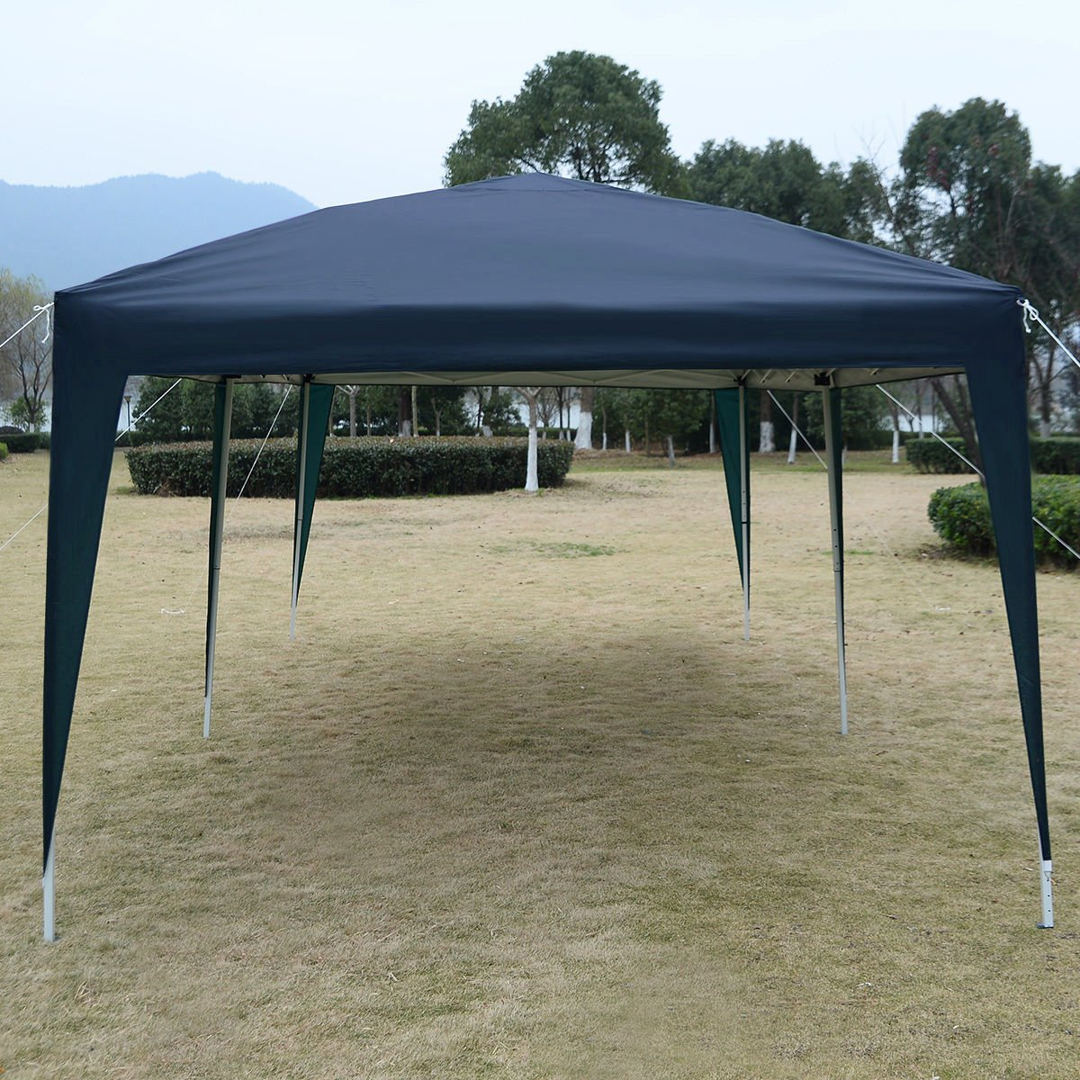 Blue 10'X20' EZ POP UP Gazebo Wedding Party Tent Folding Canopy Carry Bag Cross-Ba by Tamsun