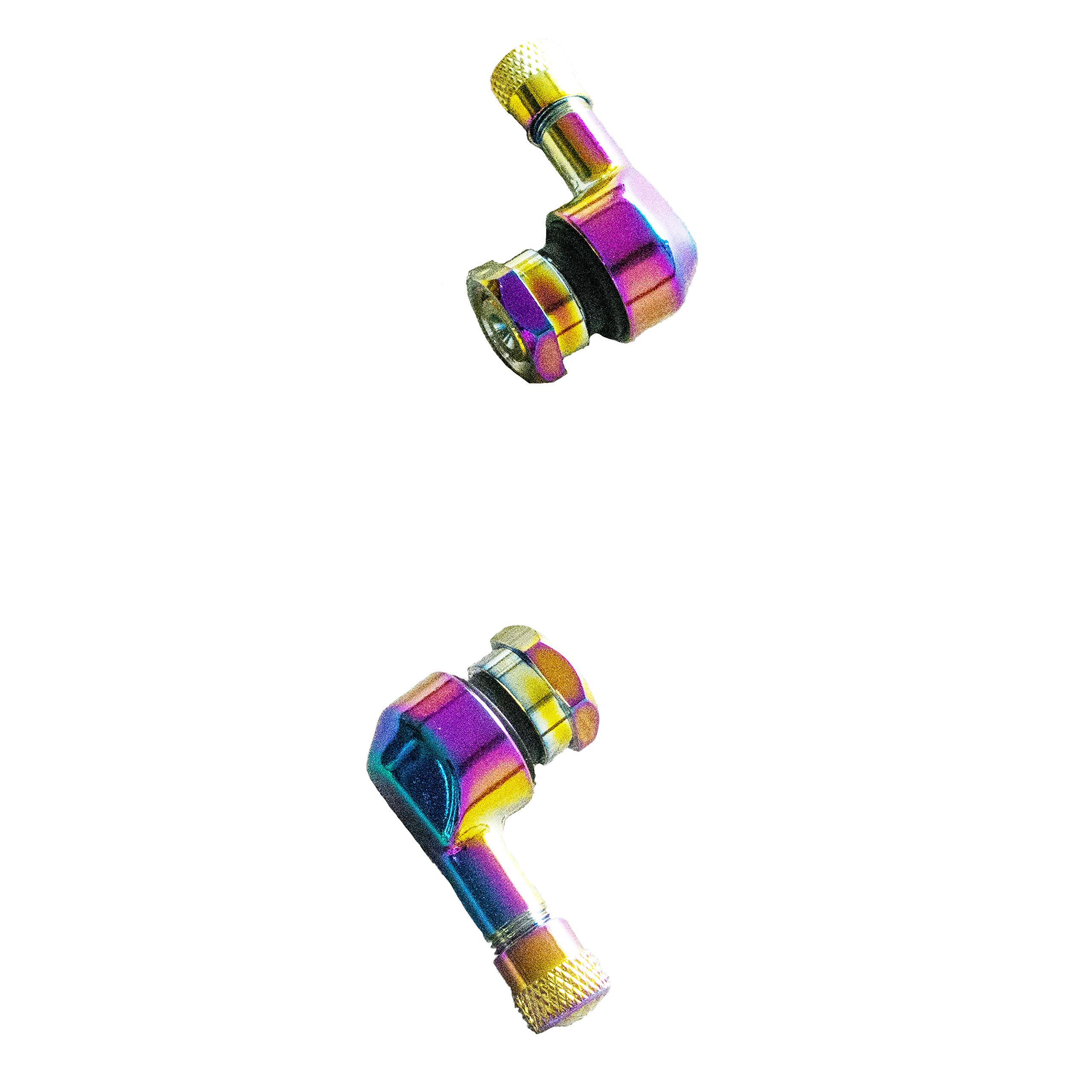 NEX Performance Angled forged Alloy Valve Stem, 0.453in (11.3mm) Size, Neo Chrome by NEX Performance