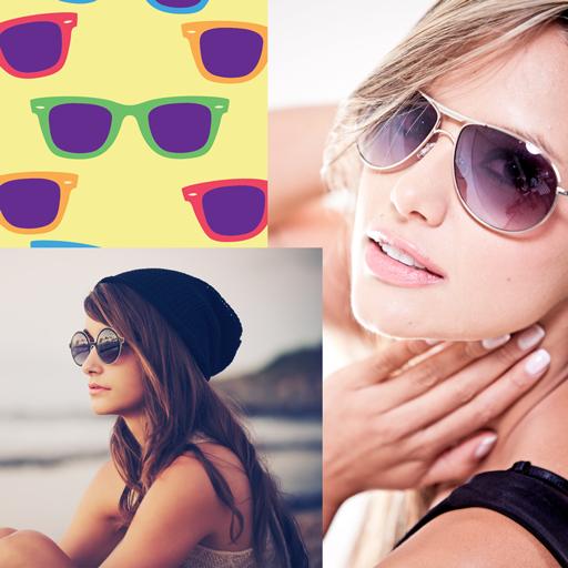 Sunglasses Photo Collage - Sunglasses Layout