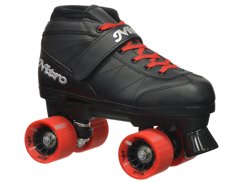 Epic Skates 2016 Epic Super Nitro 1 Indoor Outdoor Quad Speed Roller Skates, Red