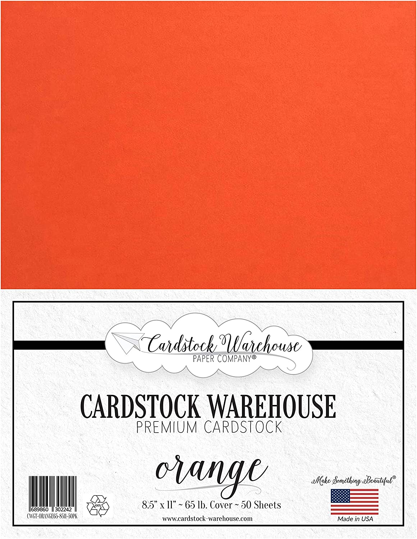 100Lb Cover Pumpkin Orange Cardstock Clear Path Paper 8.5 x 11 inch 25 Sheets