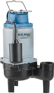 Blue Angel Pumps T50SW 1/2 HP 120V Commercial-Grade Submersible Sewage Pump