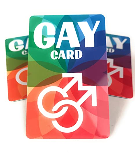 Amazon.com: The Gay Card - LGBT Ally, Gay Pride Gifts ...
